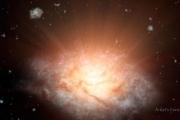Недавно открытая галактика сияет как 300 триллионов Солнц