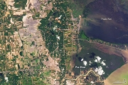 Снимок соспутника показал масштабы наводнения вТаиланде