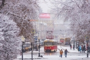 Весенний снег удивил Екатеринбург и помешал движению: фотообзор