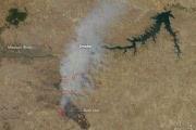 В американском штате Монтана полыхают лесные пожары: фото со спутника